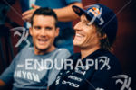Jan Frodeno and Sebastian Kienle (l-r) waiting for the press…