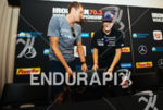 Jan Frodeno and Sebastian Kienle at the press conference of…