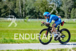 Julia Gajer competes during the bike leg of the 2015…
