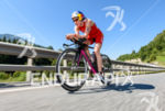 Daniela Ryf competes during the bike leg of the 2015…