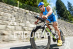 Andreas Dreitz competes during the bike leg of the 2015…