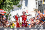 Daniela Ryf celebrates at the finish of the 2015 Ironman…