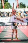 Gurutze Frades winning the inaugural 2015 Ironman France Vichy in…