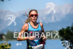 Magali Tisseyre competes during the run leg of the 2015…