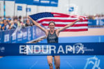 Gwen Jorgensen wins the 2015 WTS Chicago in Chicago, IL,…