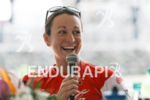 Rachel Joyce at the press conference of the 2015 Ironman…