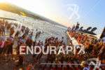 Triathletes before the start of the 2015 GoPro Ironman World…