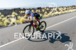 Beth Gerdes (USA) competes during the bike leg at the…