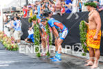Jan Frodeno and Andreas Raelert (l-r) at the finish of…