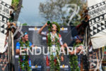 Andreas Raelert, Jan Frodeno, Timothy O'Donnell (l-r) at the finish…