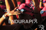 A female triathlete before the start of the 2015 GoPro…