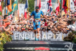 Andreas Raelert at the finish line of the  2015 Ironman…