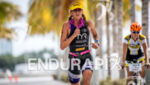 Sarah Haskins during the run portion of the  2015 Ironman…