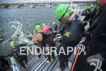 Age groupers begin the swim leg at Ironman Arizona on…