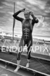 Amanda Stevens exiting the water at Ironman Arizona on November…