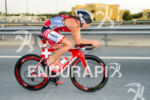 Caroline Steffen competes during the bike leg at the 2016…