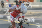 Terenzo Bozzone competes during the bike leg at the 2016…