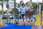 Alice Hector (GBR) exits T1 at the Israman triathlon at…