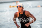 Magali Tisseyre during the swim  portion of the 2016 Ironman…