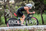 Anja Beranek during the  bike portion of the 2016 Ironman…