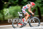 Lisa Roberts during the bike portion of the 2016 Ironman…