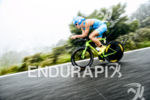 Andreas Dreitz (GER) competes during the bike leg at the…