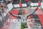 Thomas Steger (AUT) at the finish  at the 2016 Ironman…