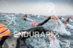 Athletes during the swim at the 2016 Ironman Lanzarote in…