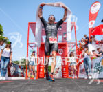 Jesse Thomas (USA) celebrates at the finish at the 2016…