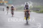 Kristin Möller during the bike portion of the 2016 Ironman…