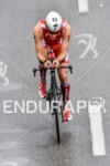 Brent Mcmahon during the bike portion of the 2016 Ironman…