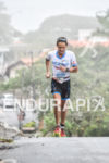 Kevin Collington during the run portion of the 2016 Ironman…