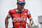 Paul Matthews during the run portion of the 2016 Ironman…