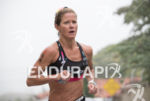 Liz Lyles during the run portion of the 2016 Ironman…