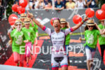Anja Beranek (GER) at the finish at the 2016 Ironman…