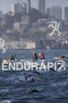Swimmers during the swim leg at Escape From Alcatraz Triathlon…