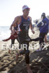 Joe Maloy exits the water at Escape From Alcatraz Triathlon…
