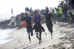 The pro women exit the water at Escape From Alcatraz…