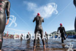 Holly Lawrence during the swim portion of the 2016 Ironman…