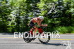 Trevor Wurtele during the bike portion of the 2016 Ironman…
