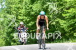 Lauren Brandon during the bike portion of the 2016 Ironman…