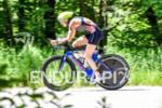 Heather Lendway  during the bike portion of the 2016 Ironman…