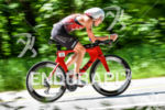 Heather Wurtele during the bike portion of the 2016 Ironman…
