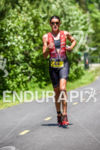 Heather Wurtele during the run portion of the 2016 Ironman…