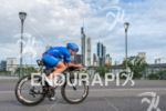 Daniela Saemmler during the bike leg at the Ironman European…