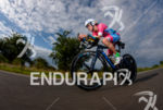 Natascha Schmitt during the bike leg at the Ironman European…