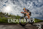 Sebastian Kienle during the bike leg at the Ironman European…