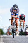 Andreas Boecherer during the bike leg at the Ironman European…