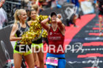 Katja Konschak at the finish at the Ironman European Championship…