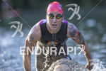 Rachel McBride exits the swim leg at the 2016 Ironman…